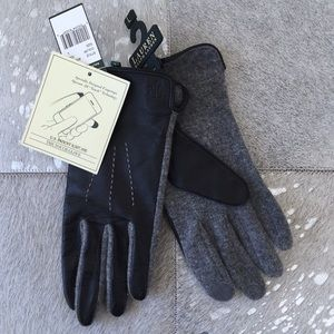 NWT Ralph Lauren•Leather Touchscreen Gloves